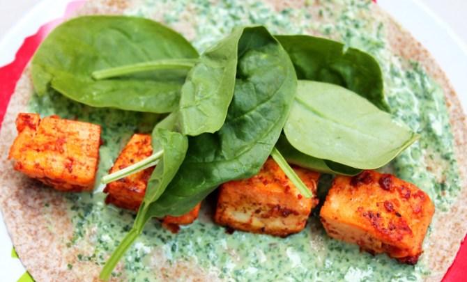 Indian Tandoori Tofu Wraps recipe.