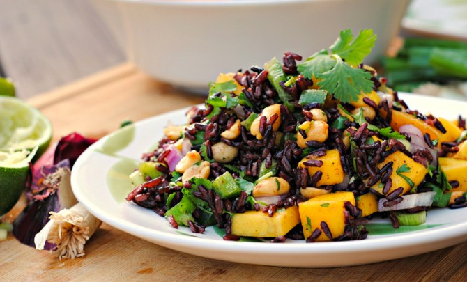 Black Rice Salad with Mango and Peanuts recipe.