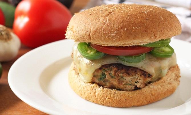 Cilantro Turkey Burger recipe.