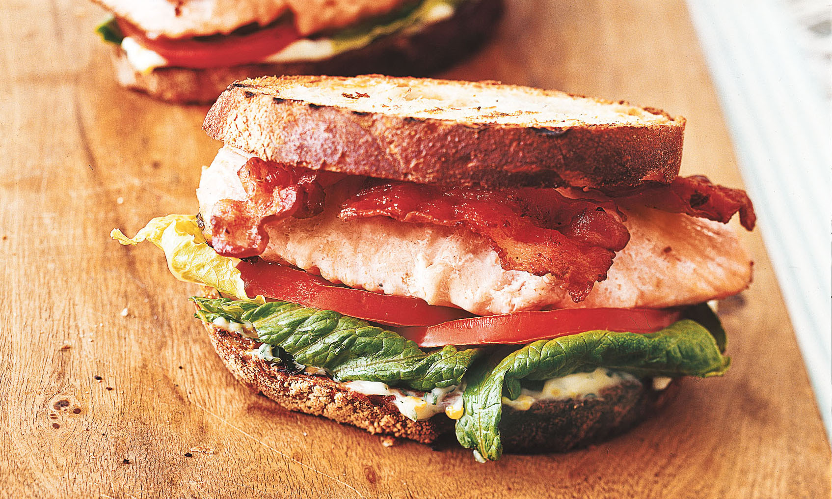 Salmon BLTs with Lemon-Dill Mayo