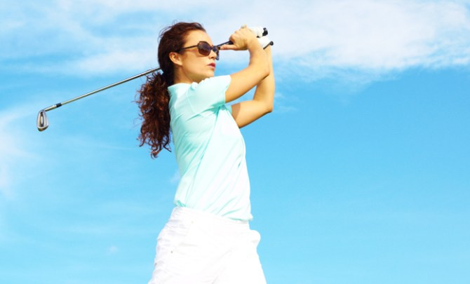 First-hand female experience golf experience.