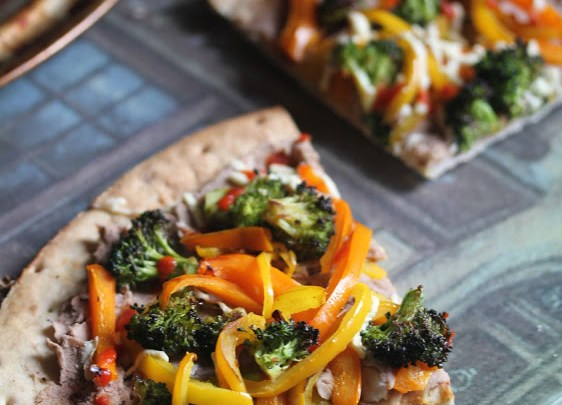 Vegan Bean Pepper Broccoli Pie