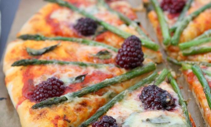 Asparagus Gruyere Pizza