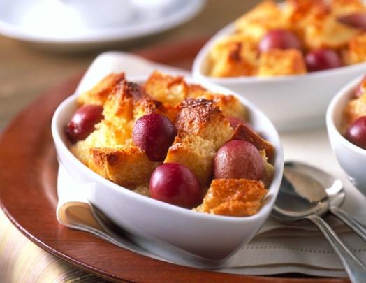 Brioche and Grape Bread Pudding