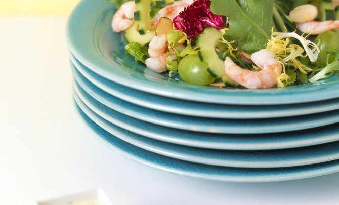 Dilled Shrimp and Grape Salad