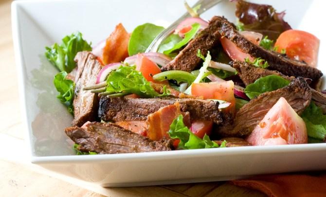 Paleo Blackened Skirt Steak Salad