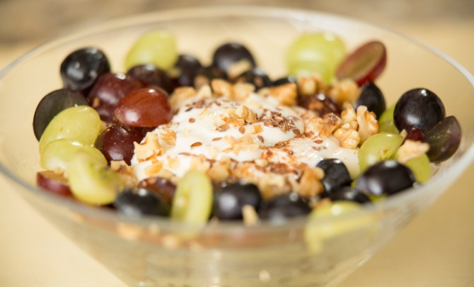 Yogurt Power Bowl with California Grapes