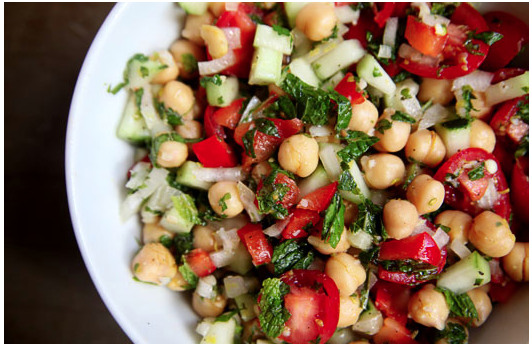 Chickpea Salad with Lemon-Mint Vinaigrette