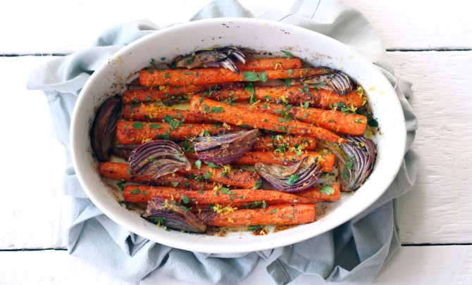 whole roasted cumin carrots