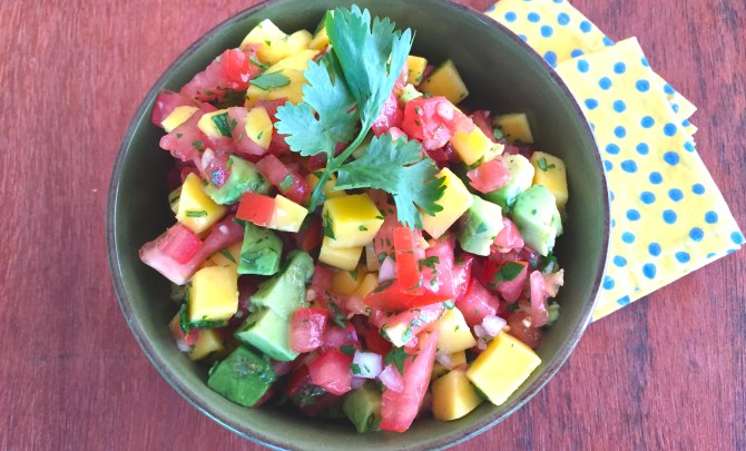 Fresh Tomato Salsa with Mango and Avocado