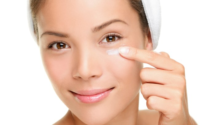Image result for applying eye cream