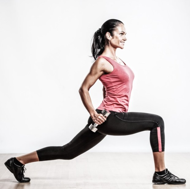 Lunge Train your whole legs for explosive power with lunges. This exercise will really work your glutes and hamstrings to give you balanced leg strength. You can do a variety of lunges to emphasize your different leg muscles. When doing the traditional forward lunge, make sure your knee doesn't go over your toes!