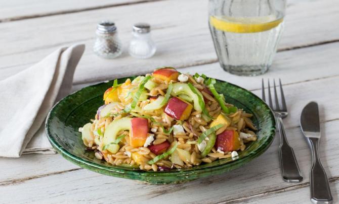 Peach & Nectarine Orzo Salad