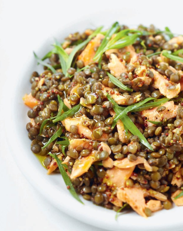 Lentil Salad with Salmon and Tarragon