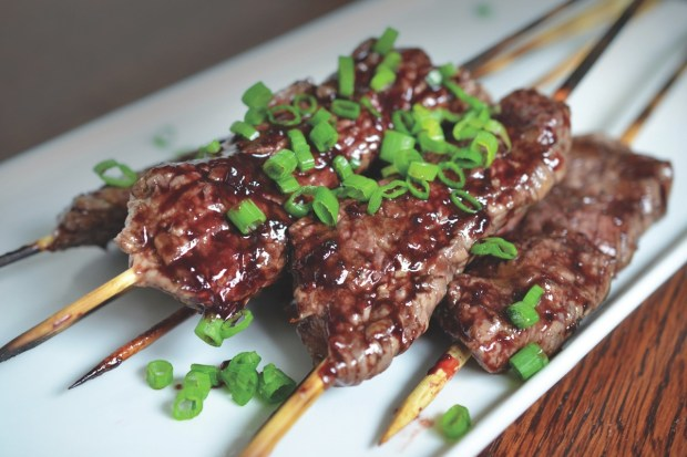 Paleo Steak Skewers with Cherry Barbecue Sauce