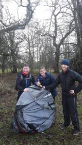 How not to foldaway a pop-up tent at Cirencester Cross Country
