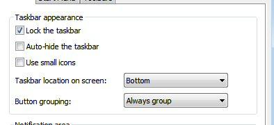 Change Taskbar