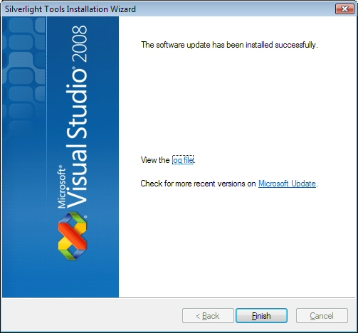 Silverlight Install Complete