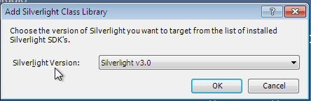 Create Silverlight Class Library