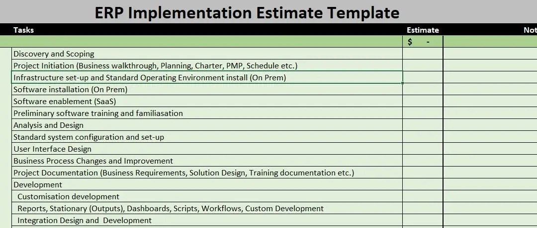How To Estimate ERP Project? Download A Free Estimator!