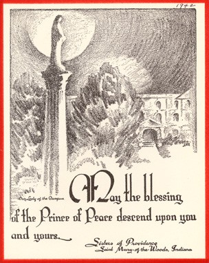 This 1942 Christmas card was sent by the General Administration.