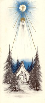 This Christmas card was sent by the General Administration in 1960. It was designed by Sister Mary Angela Jahn (RIP).