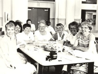 General Chapter 1991, Chapter of Affairs — Sisters Connie Kramer, Becky Keller, Cathy Campbell, Cordelia Moran, Irma Meuse, Jacquelyn Hoffman and Suzanne Buthod