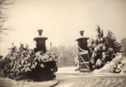 Winter of 1940: Entrance to Saint Mary-of-the-Woods.