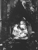 1955: Christmas Crib in the Convent Chapel.