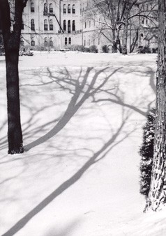 Winter of 1979: Foley Hall taken from Providence Park.