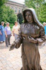 Mother Theodore will greet pilgrims and visitors just south of the Church of the Immaculate Conception.