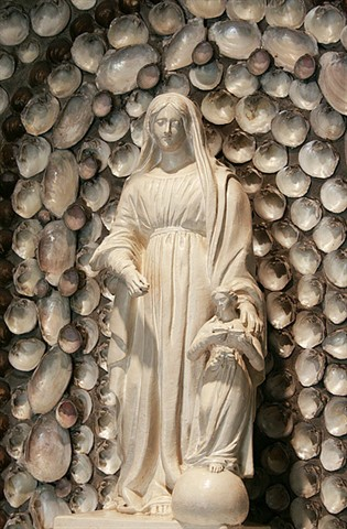 This statue sits atop the shrine to Saint Anne.