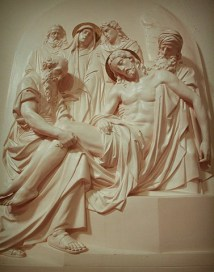 The Stations of the Cross depict scenes in the last days before Jesus died.