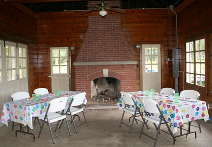 The lodge is a great place to host a birthday party, shower or class reunion.
