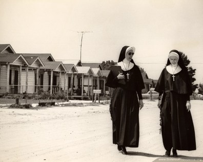 Sisters Alma Louise Mescher (left) and Mary Jean Mark ministered in the summer of 1965 in the SCOPE Project in Albany, Ga. While in the South they took part in the march to Selma, Ala. led by Reverend Martin Luther King, Jr.