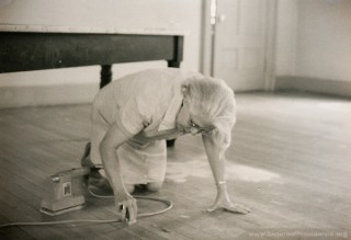 Sister Edith Pfau in June of 1977. In addition to decades of ministry in art education, Pfau was herself an accomplished painter and artist.