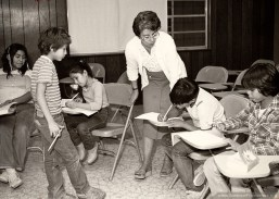 Sister Martha Rojo ministers as a director of religious education in a parish in San Antonio, Texas (1984).