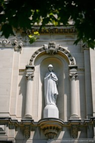 This statue of Mary is above the front entrance of the Church of the Immaculate Conception. Saint Mary-of-the-Woods, Indiana, is the home of the Sisters of Providence of Saint Mary-of-the-Woods.