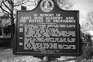St. Rose Vincennes historical marker