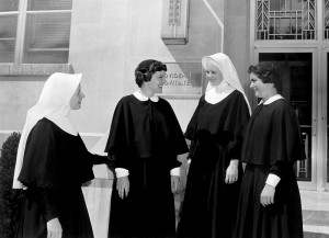 Women in initial formation in the 1960s also in front of Owens Hall