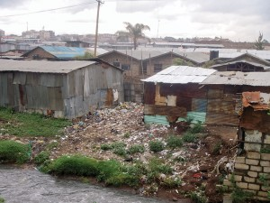 Sister Deborah visits one of the largest slums in the Nairobi, with a population of more than 100,000. An AIDS/HIV relief program funded by CRS serves the area.