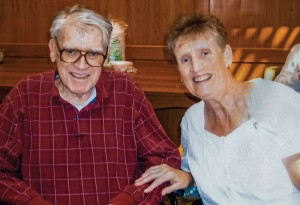Part of Sister Claire's current ministry is work as a home health care provider, allowing older people who need special care to stay in their homes longer. Among those she's helped is her uncle, shown here.
