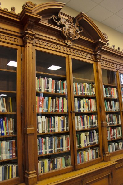 The physical library in the resource center