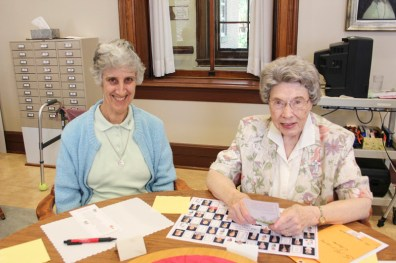 Sister Jane Gibson and Sister Miriam Clare Stoll
