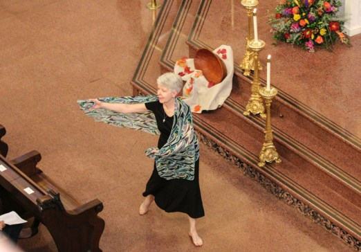 Sister Martha Speth performs liturgical dance.