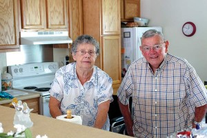 Mary and Don Brown in their home, above, a part of Providence Housing Corporation in West Terre Haute.