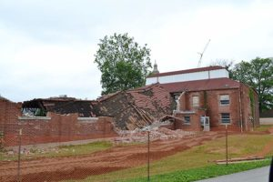 """On June 1, S&G Excavating, located in Terre Haute, began tearing down the """"Old Gym."""""""