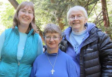 Sister Arrianne Whittaker, Sister Patty Wallace and Sister Susan Dinnin.
