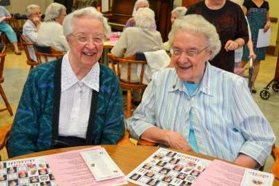 Sister Marie David Schroeder and Sister Louise Schroeder