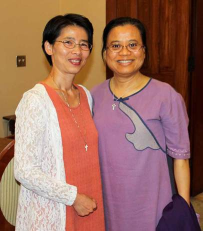 Sister Anna Fan (left) and Sister Su-Hsin Huang.